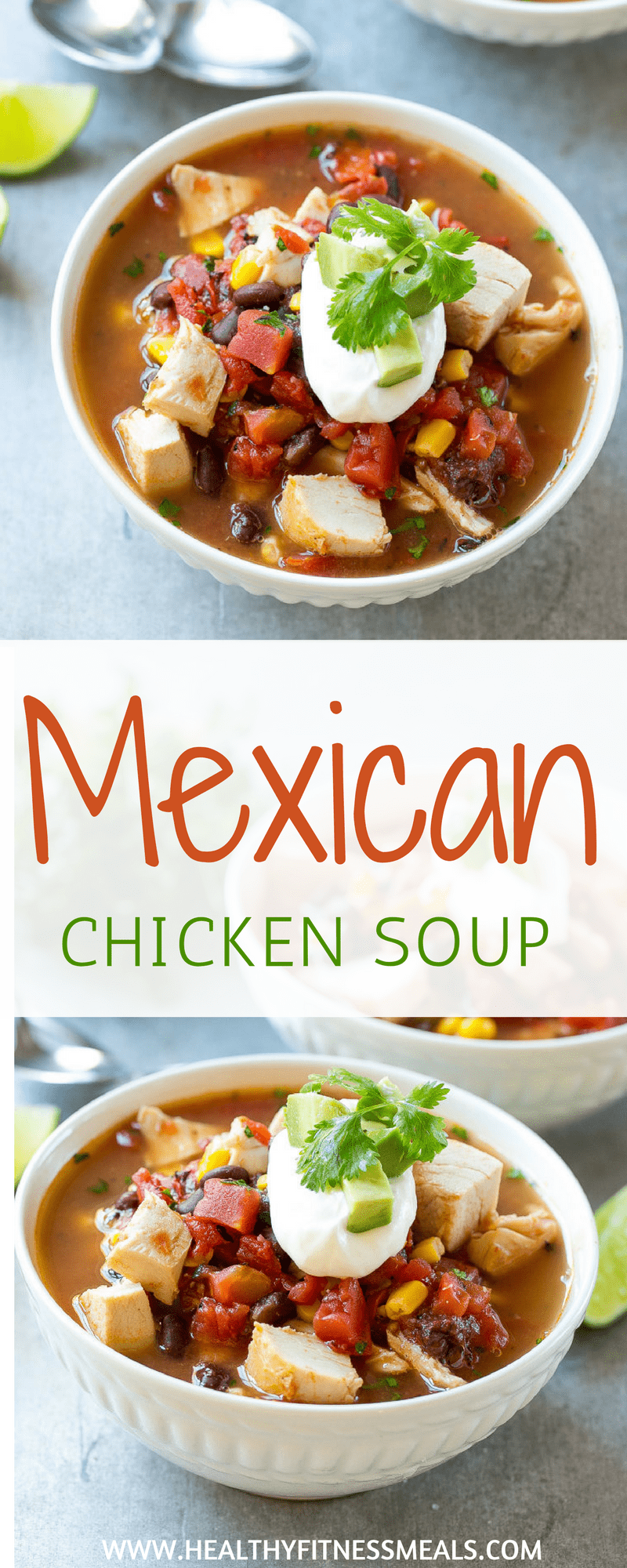 Mexican Chicken Soup | Mexican Soup Recipe | Healthy Soup Recipe | Meican Chicken Recipe | Healthy Mexican Recipe | Healthy Fitness Meals #mexicansoup #souprecipe #healthysouprecipe #healthyrecipe