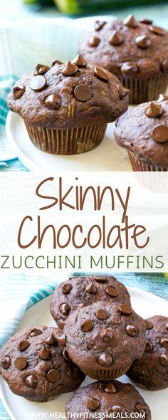 Skinny Chocolate Zucchini muffins