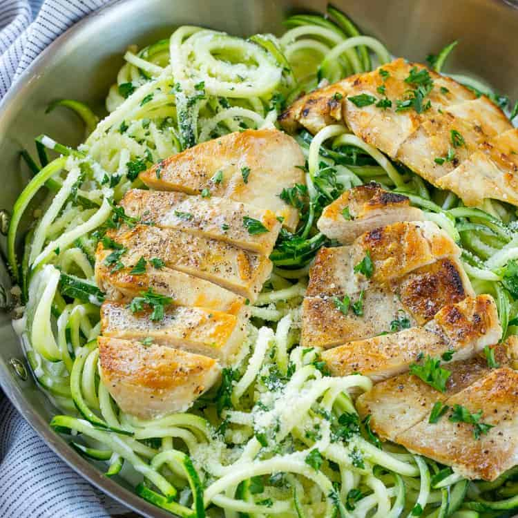 Chicken Alfredo Zoodles