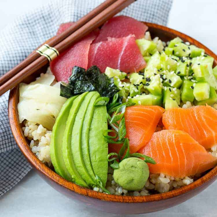 Easy Sushi Bowl Recipe A Twist To Your Sushi Roll Healthy Fitness Meals