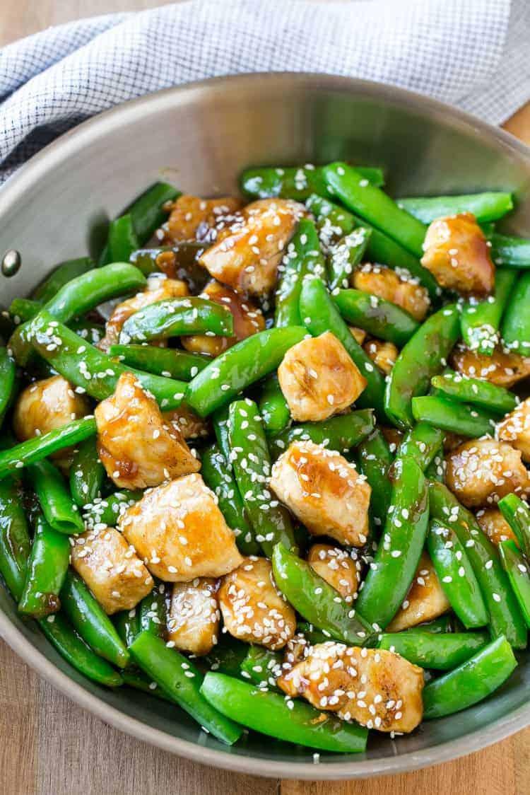 sesame chicken made with veggies