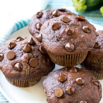 Skinny Chocolate Zucchini Muffins Recipe