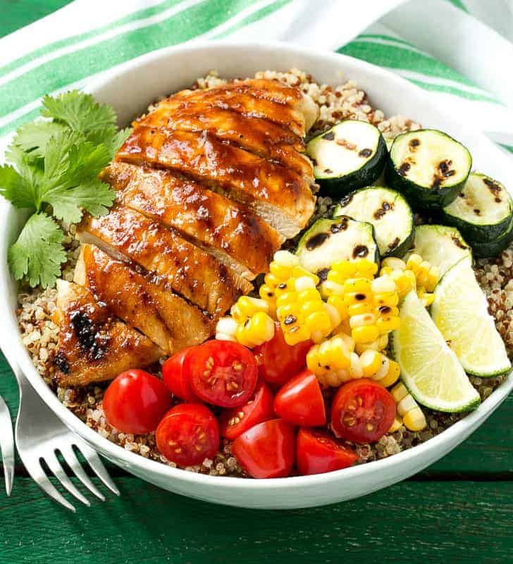 Barbecue Chicken Quinoa Bowl
