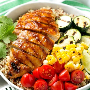 Barbecue Chicken Quinoa Bowl Recipe