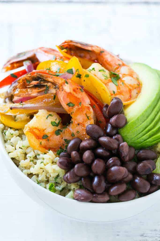 Shrimp Fajita Bowl.