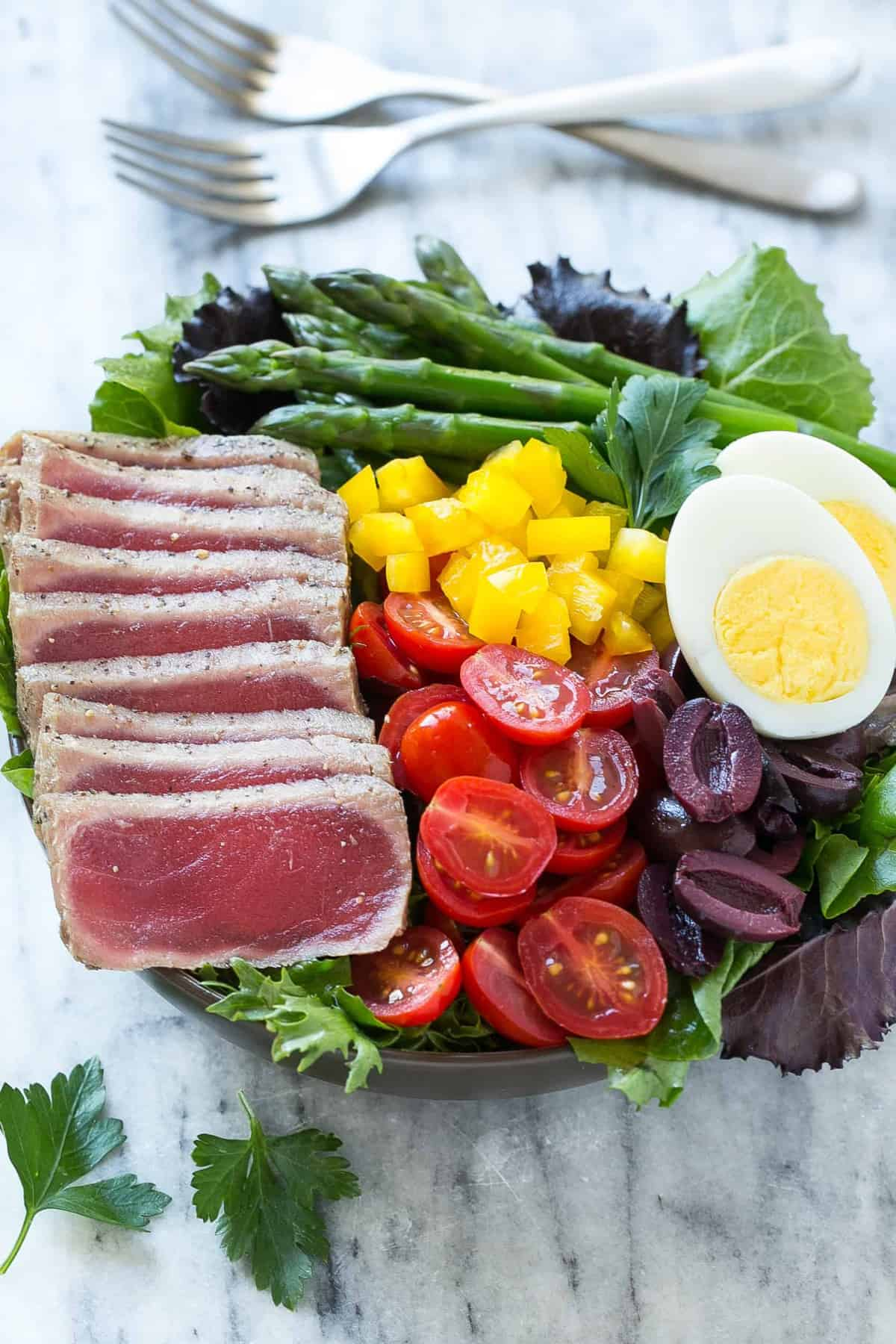 ahi tuna lunch recipe