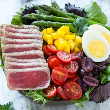 Ahi Tuna Nicoise Salad  Recipe