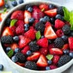 Mixed Berry Fruit Salad