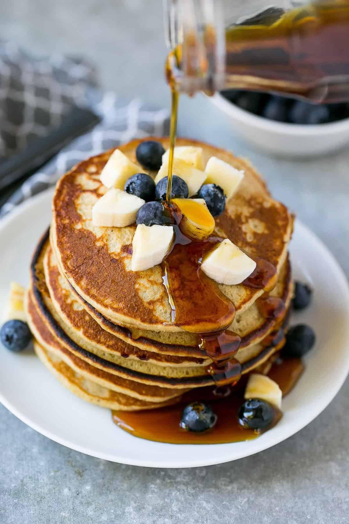 Blueberry Banana Pancakes