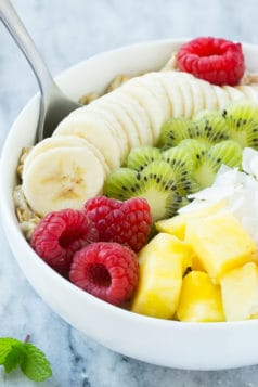 Fruit and Oatmeal Breakfast Bowl Recipe