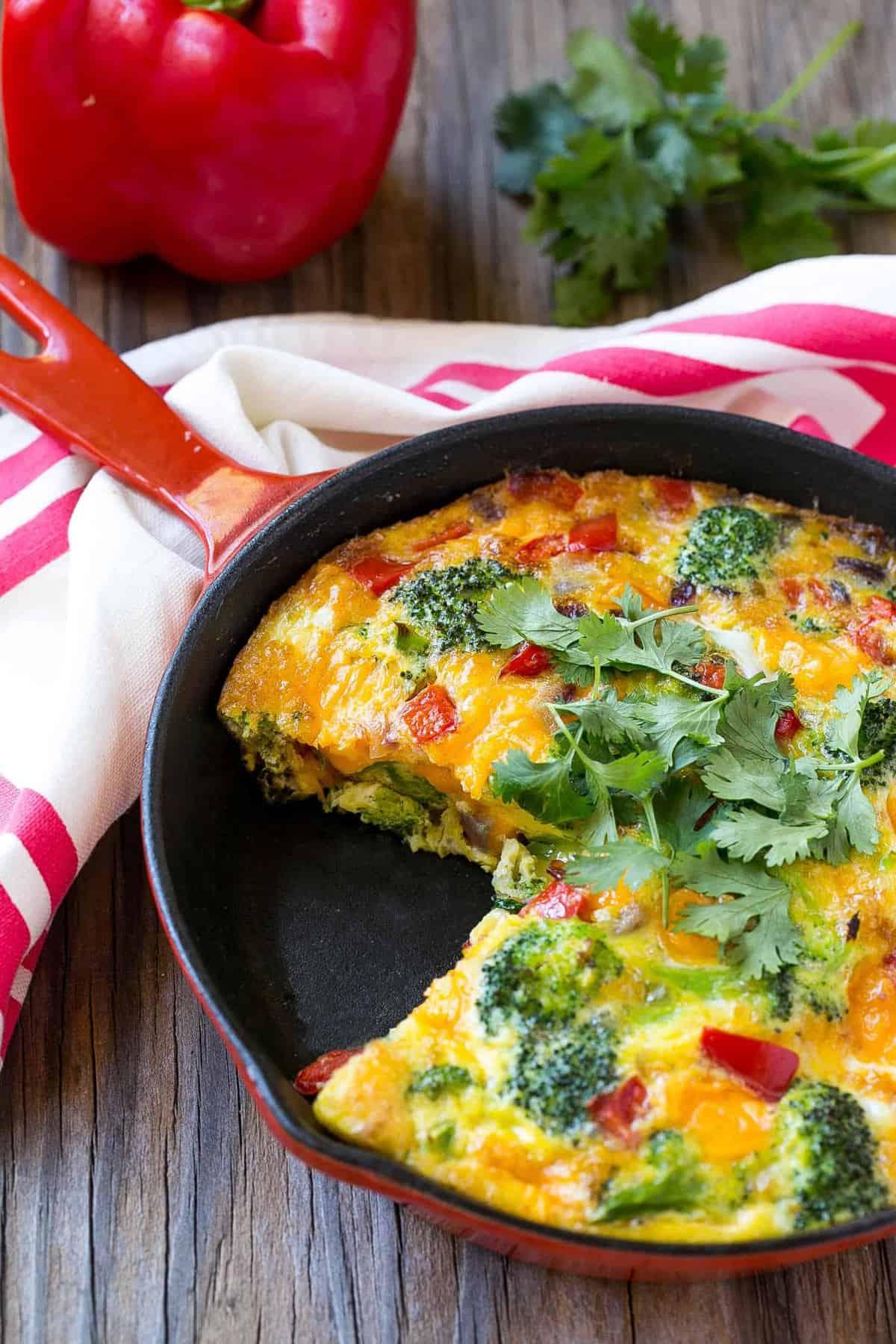 baked breakfast egg skillet