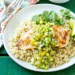 Grilled Chicken with Pineapple-Cucumber Salsa