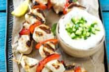 Lemon Chicken Skewers Recipe
