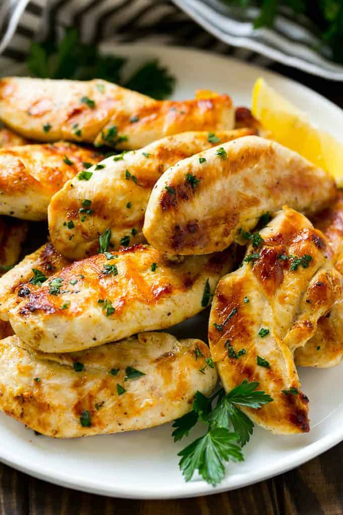 Lemon Garlic Marinated Chicken
