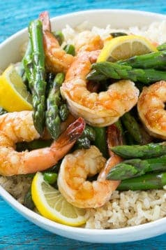 Easy Lemon Asparagus Shrimp Recipe