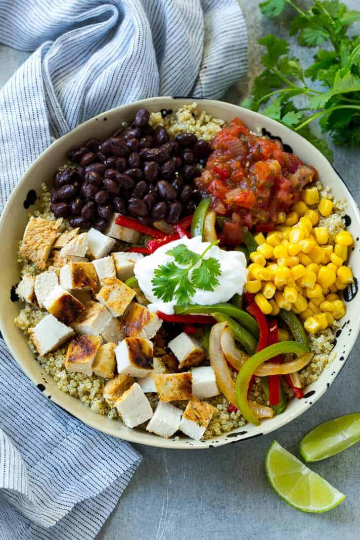 Mexican Chicken Quinoa Bowl