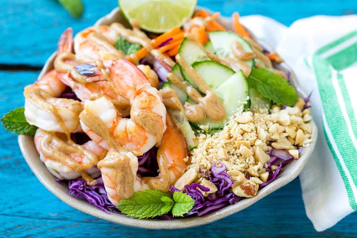 easy shrimp recipe in a bowl