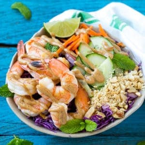 peanut shrimp salad