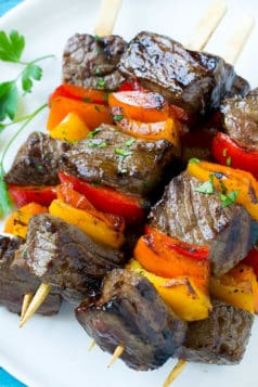 Pepper Steak Kabobs