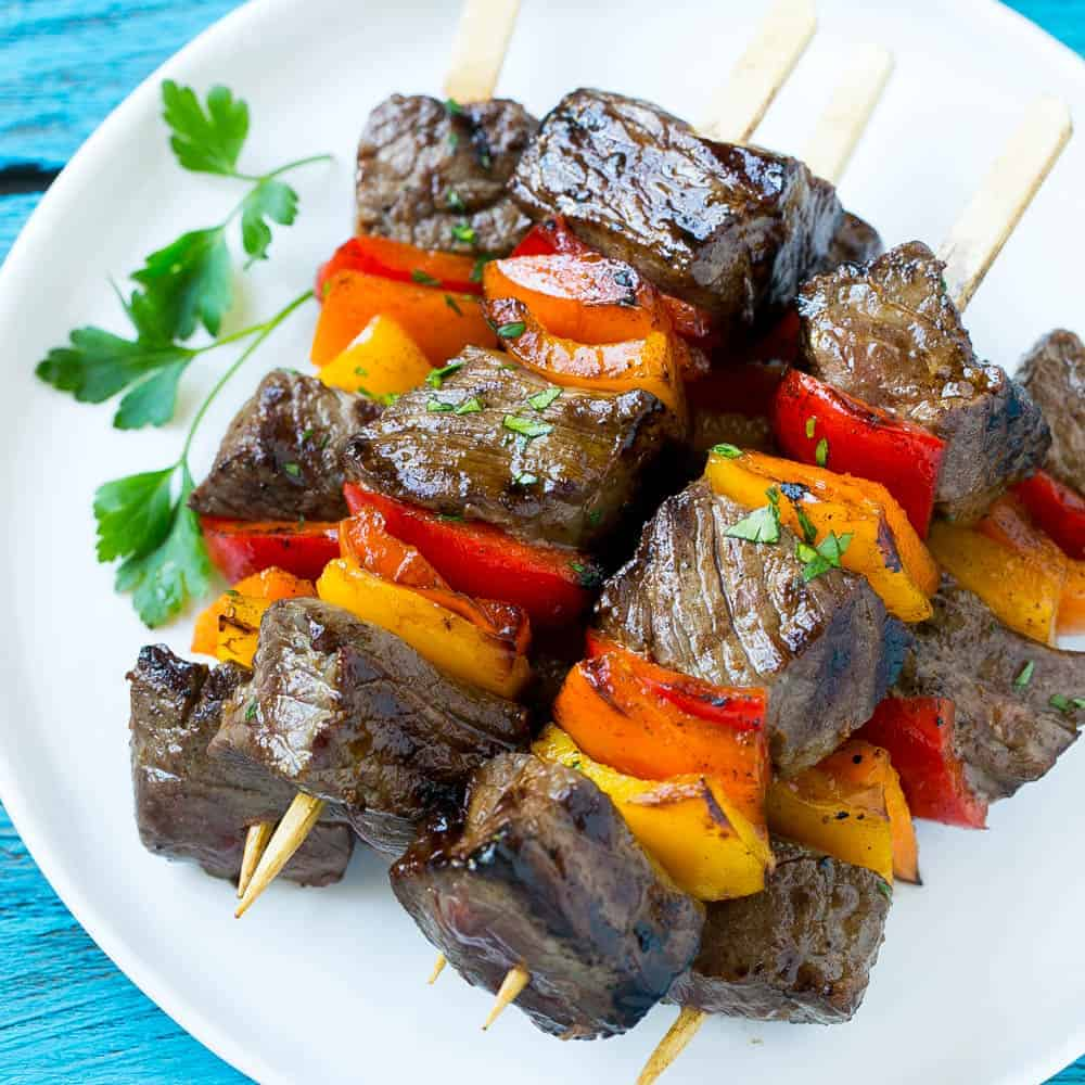 Pepper Steak Kabobs With Some Side Dish Tips Healthy Fitness Meals