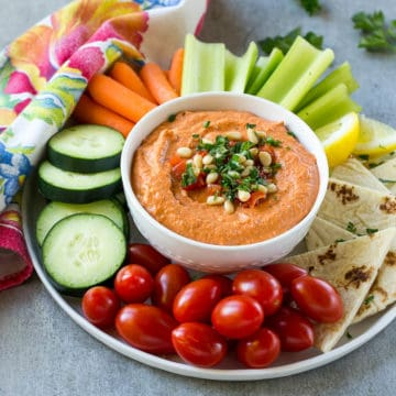hummus and veggie bowl