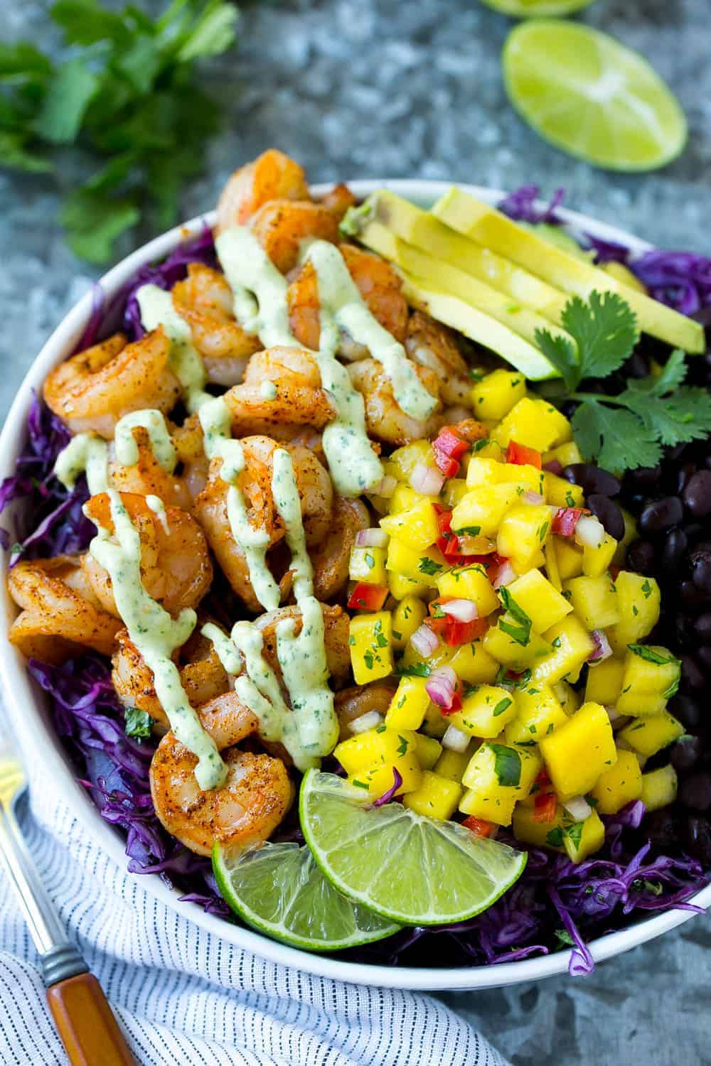 easy shrimp taco bowl recipe