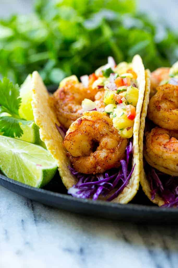 Shrimp Tacos with Pineapple Salsa Recipe