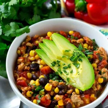 Slow Cooker Southwest Turkey Chili