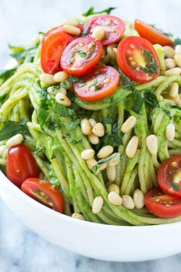 Spinach and Avocado Pasta Recipe