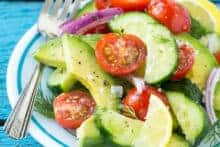 Summer Avocado Cucumber Tomato Salad