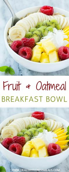Fruit and Oatmeal Breakfast Bowl | BREAKFAST BOWL | oatmeal | Healthy breakfast | Breakfast oatmeal | #breakfast #oatmeal #healthybreakfast