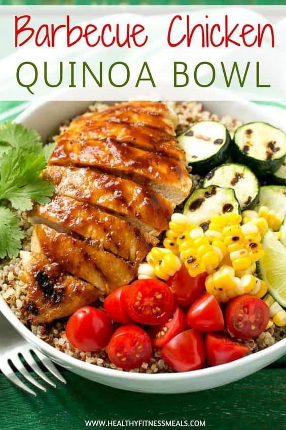 Barbecue Chicken Quinoa Bowl