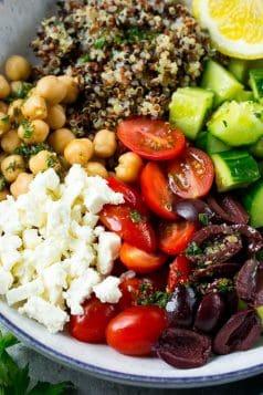 Greek Quinoa Salad Bowls