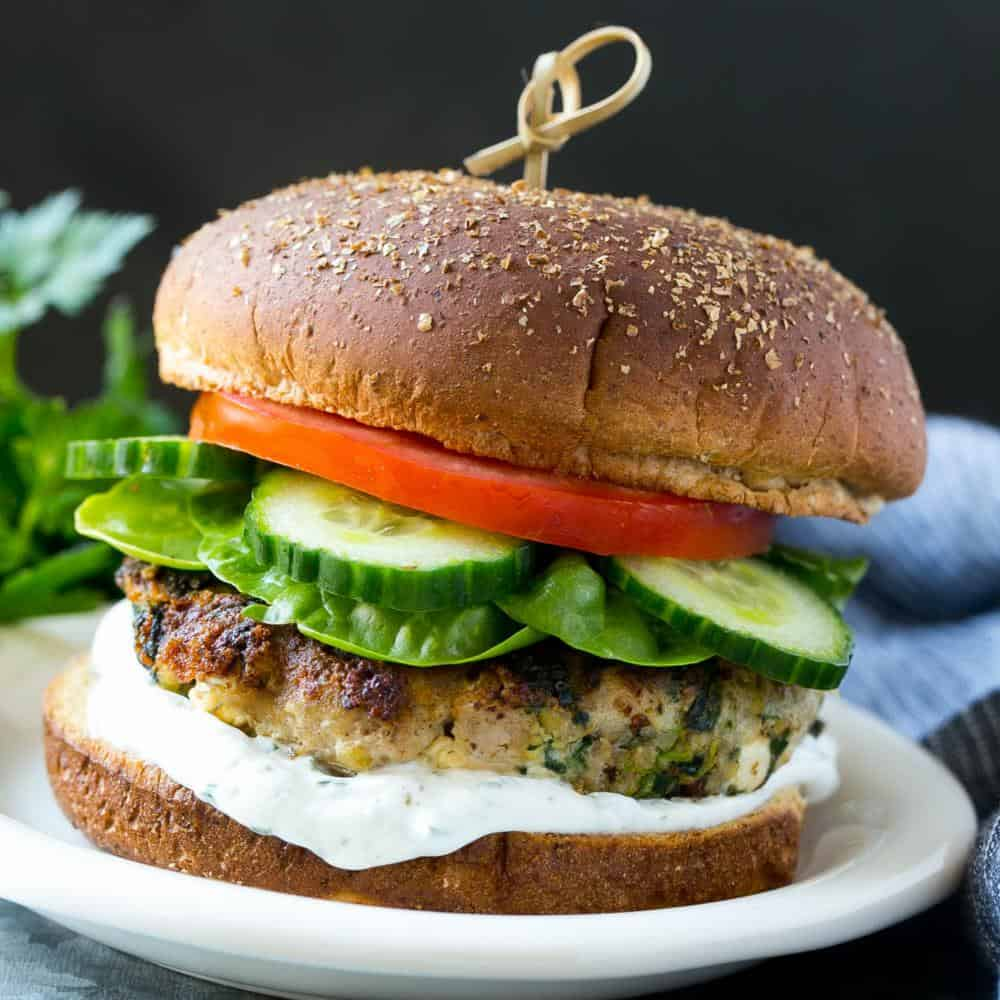 Spinach and Feta Turkey Burgers