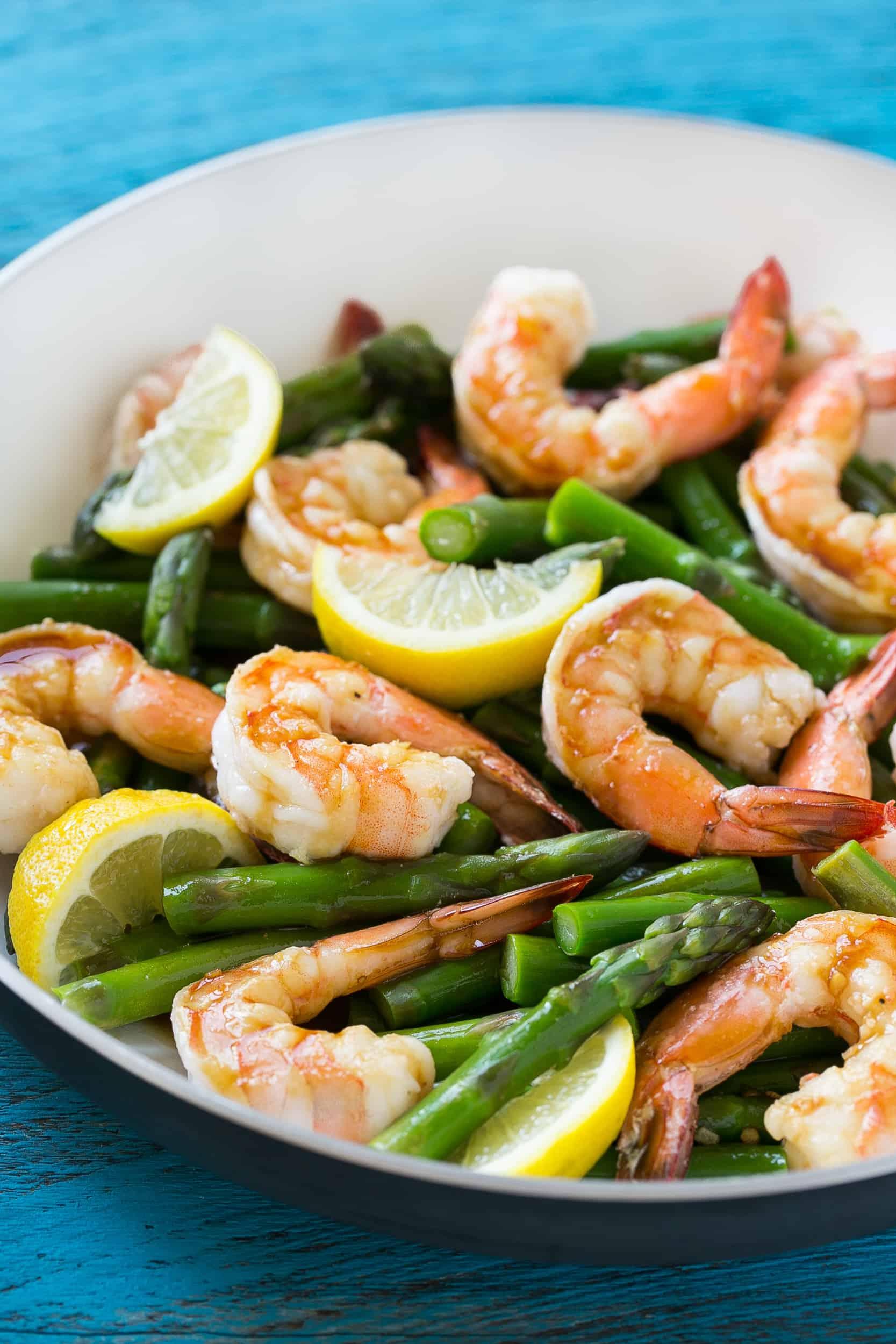 easy shrimp recipe on a plate