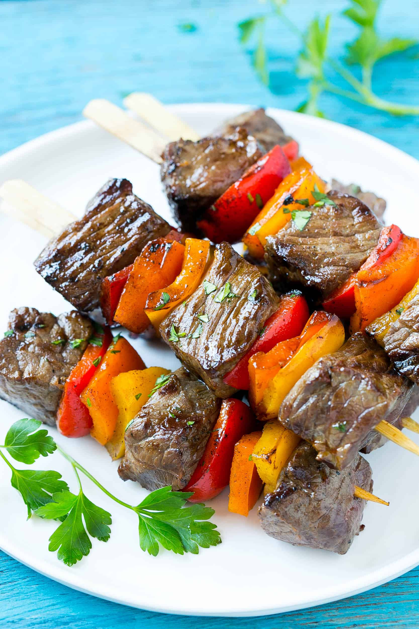 tender and juicy pepper grilled steaks