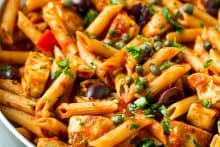 Chicken Pasta Puttanesca