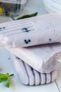 Healthy Blackberry Protein Popsicles