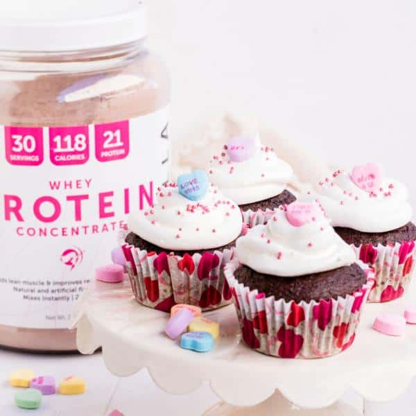 High Protein Red Velvet Cupcakes