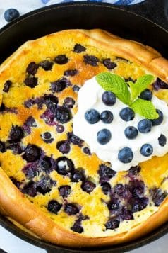 Blueberry Puffed Pancake