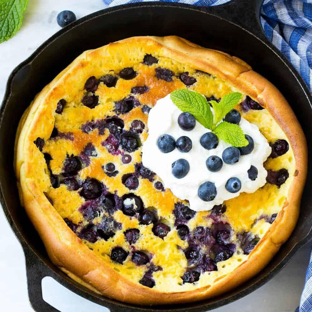 Blueberry Puffed Pancake