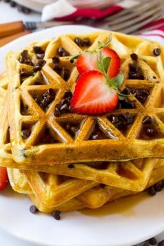 Low Carb Chocolate Chips Protein Waffles