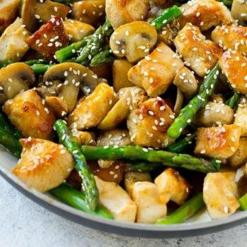 Mushroom and Asparagus Stir Fry
