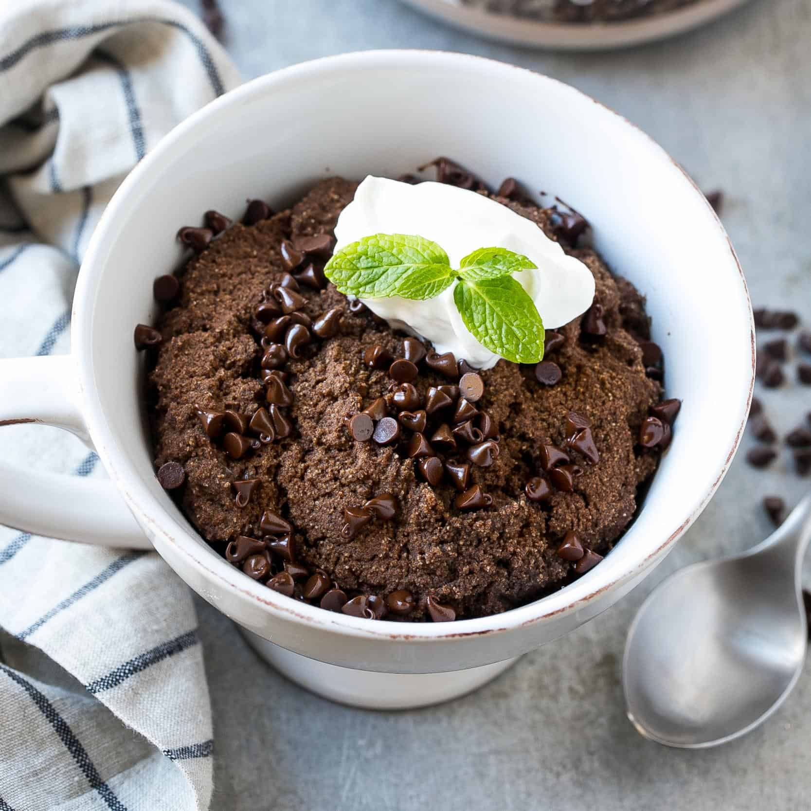 Easy Protein Chocolate Mug Cake Recipe Healthy Fitness Meals