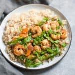 Sesame Ginger Shrimp & Vegetable Stir-fry