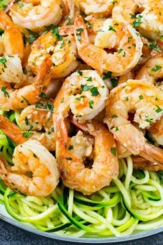 Low Carb Shrimp Scampi Zoodles