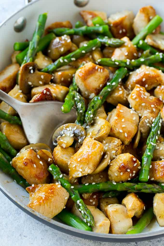 chicken Mushroom and Asparagus Stir Fry