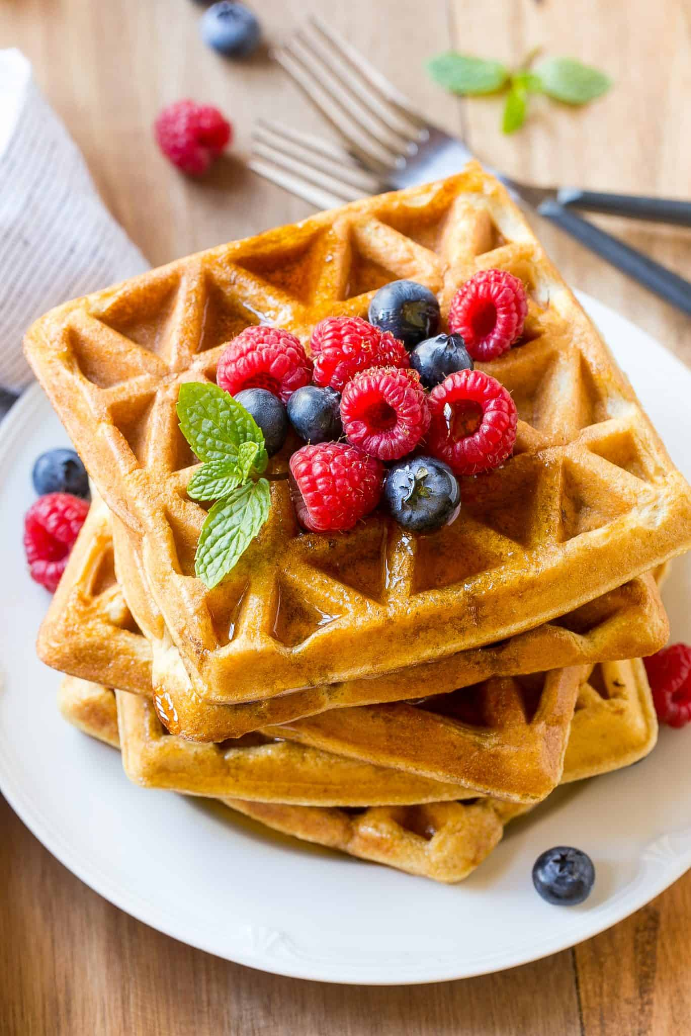 fluffy waffles Recipe