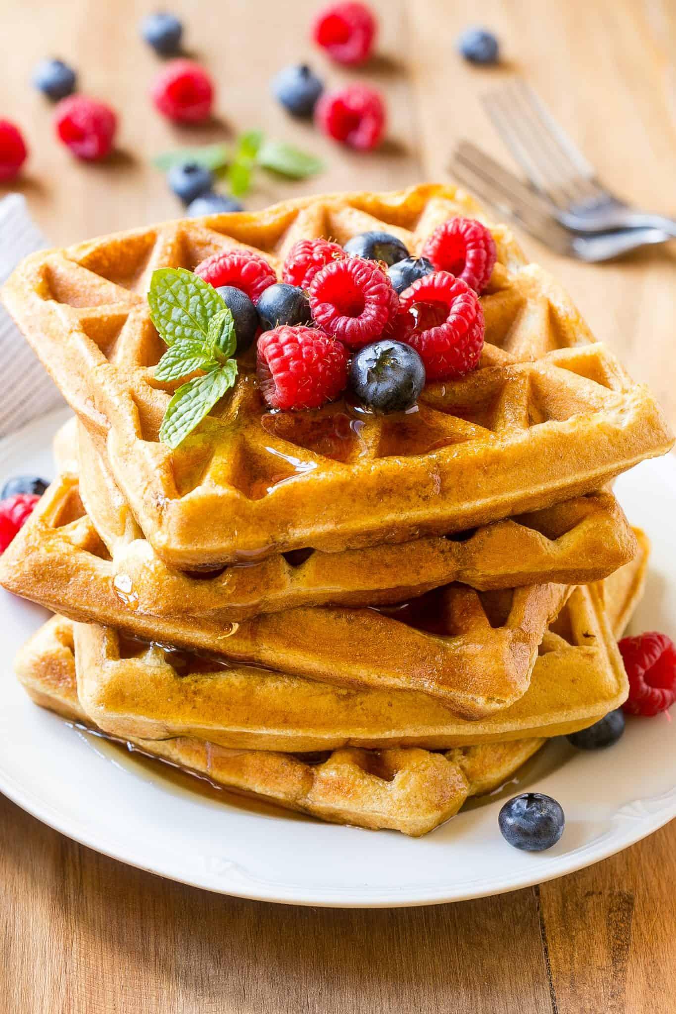 healthy crispy waffles Recipe