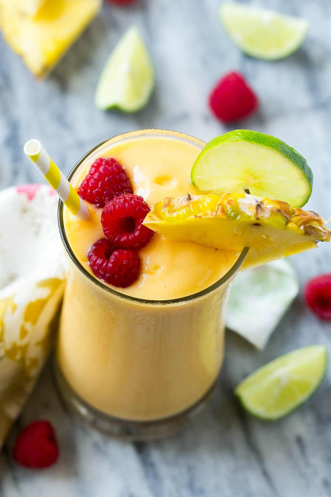 tropical protein smoothie